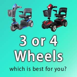 A 3 wheel mobility scooter vs. a 4 wheel mobility scooter