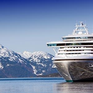 a cruise liner near the coast of Alaska