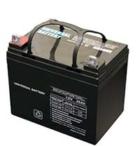Most power mobility devices use 12 volt batteries similar to this