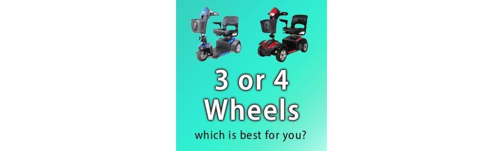 3 Wheel vs 4 Wheel Motorized Scooters