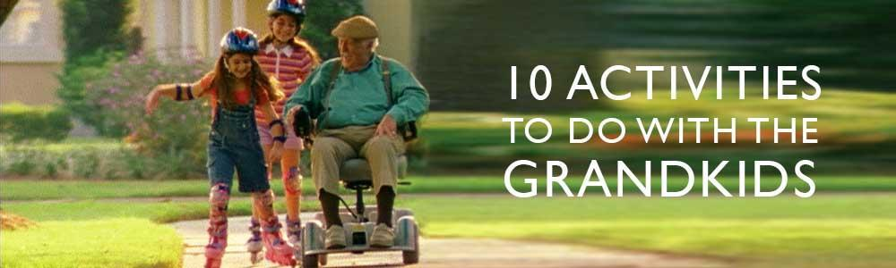 Here's a list of activities grandparents can do with the grandchildren