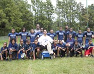 Coach Sonny with his Pop Warner football team