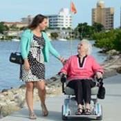 a rented power wheelchair can provide temporary help when needed