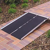 A single fold wheelchair ramp is a helpful home modification