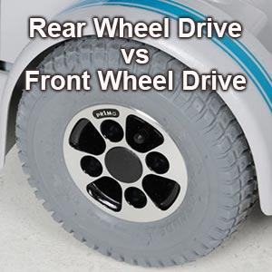 wheel to illustrate the front wheel drive vs rear wheel drive wheelchair