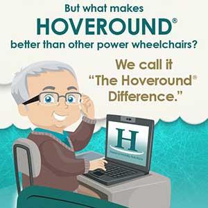 A portion of the Hoveround Difference infographic