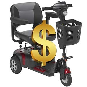 The price of a senior scooter like this one can vary widely