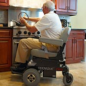 Cooking is easy from a Hoveround power chair