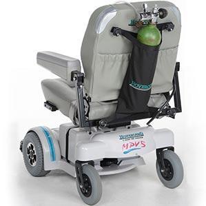 power wheelchair round oxygen holder