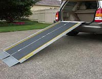 A portable wheelchair ramp can provide easy access to your vehicle