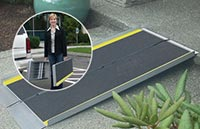 Portable wheelchair ramps are easy to move around