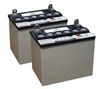 Typical replacement power wheelchair batteries