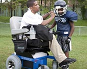 Power chair users can participate in sports as coaches too
