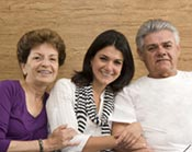 a family ready to discuss caregiving with their daughter
