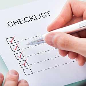 A checklist of things to do for weekly wheelchair maintenance