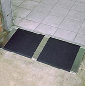 A self supporting threshold ramp for wheelchairs