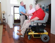 Hoveround Mobility Specialist with customer