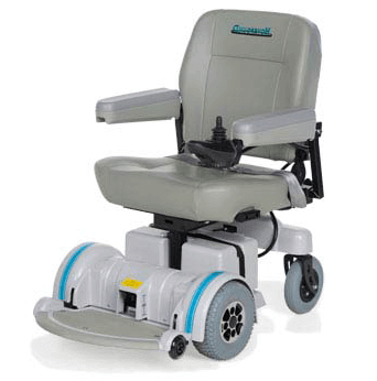 A typical Hoveround power wheelchair