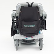 A power wheelchair backpack
