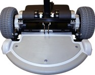 Look beneath the motor covering on an electric wheelchair with motor to see just how powerful are wheelchair motors on electrical wheelchairs